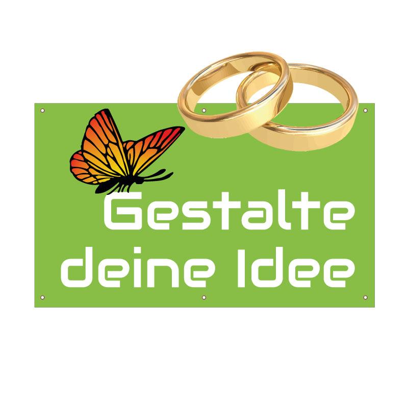 Hochzeits-Banner 150x90 cm online selbst gestalten