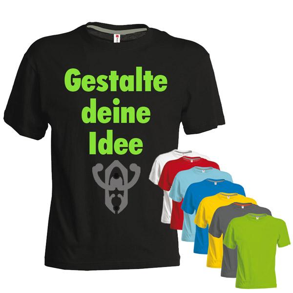 personalisiertes T-Shirt online selbst gestalten S bis 5XL