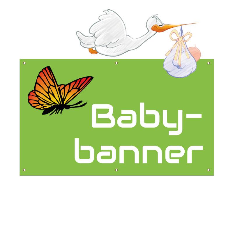 Baby-Banner 150x90 cm, selbst gestalten
