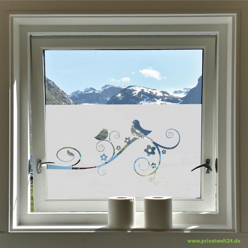 Glasdekorfolie mit deinem Motiv auf Fenstermaß geschnitten