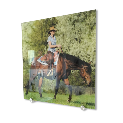 Wandbild Acryl gerade 30x30 cm mit deinem Motiv