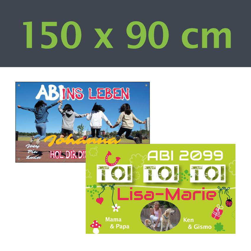 Abi Banner 150x90 cm verschiedene Vorlagen