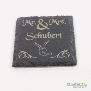 Schiefer-Untersetzer